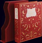 Книга «Русский театр» в мозаичном кожаном переплёте с золотым тиснением