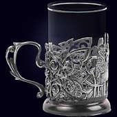 Подстаканник «Чаепитие» из латуни