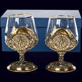 Набор из 2 бокалов «Собор Василия Блаженного» из латуни