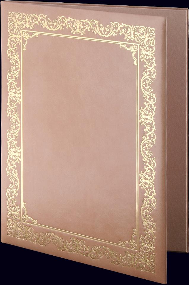 Адресная папка с тиснением золотой фольгой