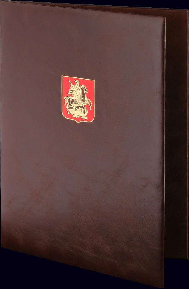 Адресная папка «Москва» с тиснением золотой фольгой