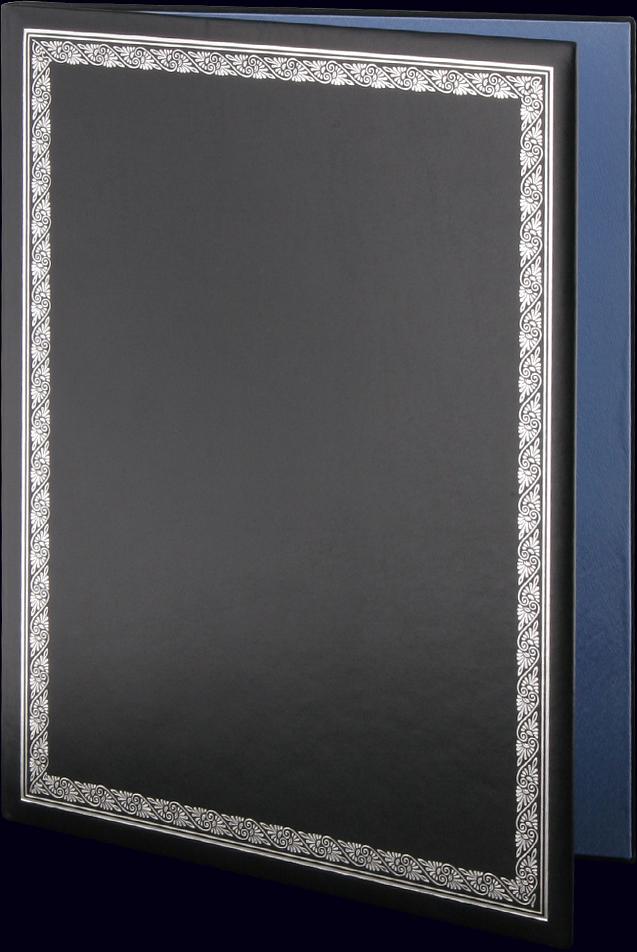 Адресная папка с тиснением серебряной фольгой