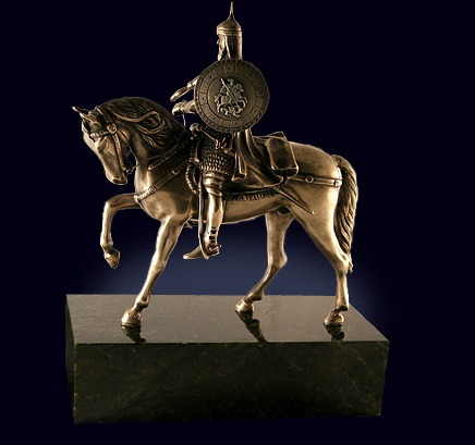 Скульптура «Юрий Долгорукий» из латуни