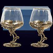 Набор из 2 бокалов «Барокко» из латуни
