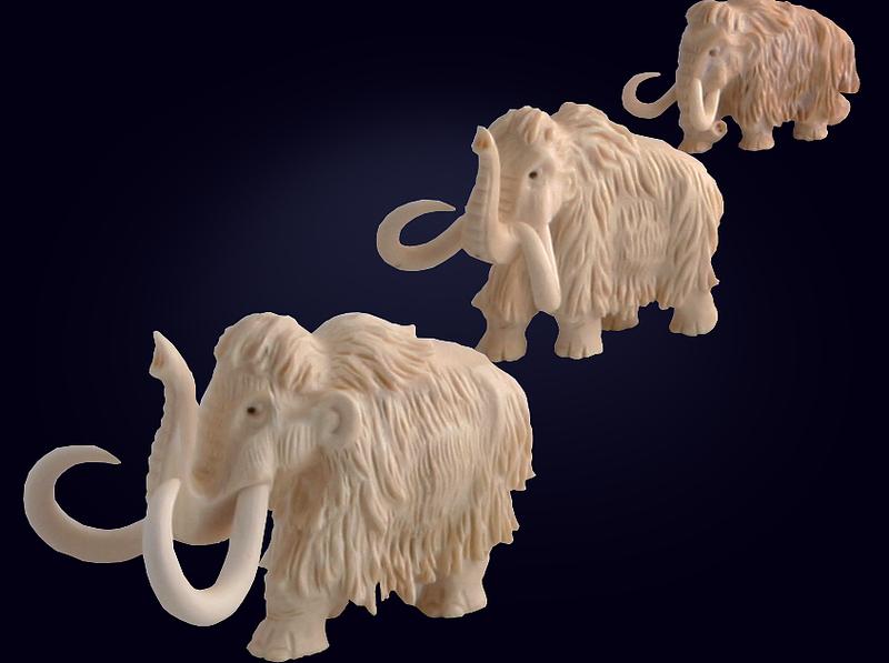 Миниатюрная композиция «3 мамонта»