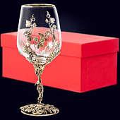 Бокал «Виноград» из латуни