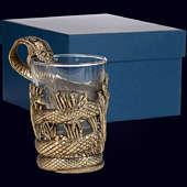 Стакан «Змей» из латуни