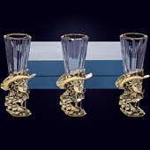Набор из 3 лафитников «Петр Великий» из латуни