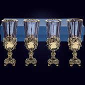 Набор из 4 лафитников «Ампир» из латуни