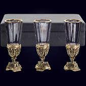 Набор из 3 лафитников «Лорд» из латуни в VIP-футляре