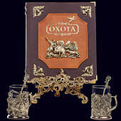 Книга «Охота Элит в наборе с подстаканниками Медведь-Утки»
