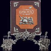 Книга «Охота Элит в наборе с подстаканниками Кабан-Лось»