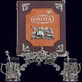 Книга «Охота Элит в наборе с подстаканниками Кабан-Утки»
