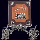 Книга «Охота Элит в наборе с подстаканниками Охота на медведя»