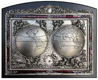 Панно «Карта Мира» 25 см