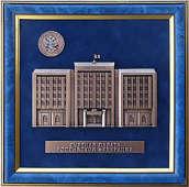 Плакетка «Счётная палата» в подарочной коробке