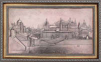 Картина «Виды Москвы» 75 см