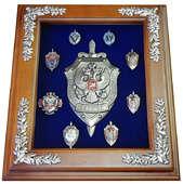 Панно «Эмблема ФСБ с юбилейными знаками»