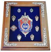 Панно «100 лет ФСБ с юбилейными знаками»