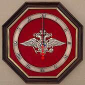 Настенные часы «Эмблема Министерства внутренних дел РФ» (МВД России) 34 см