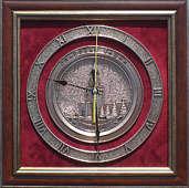 Плакетка-часы «Спасская башня»