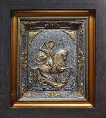 Икона «Святой Георгий Победоносец» с золочением