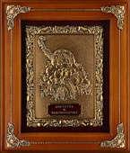 Панно из меди в деревянной раме «Рог изобилия»