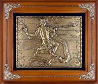 Панно из меди на стену «Водолей»