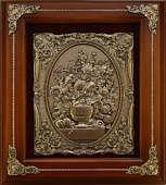 Деревянное панно «Цветы в вазе»