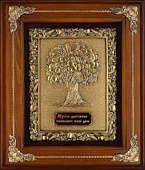 Панно из меди в деревянной раме «Дерево Изобилия»