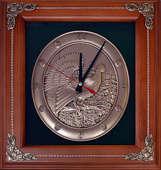 Деревянная ключница-часы настенная «Глухарь»