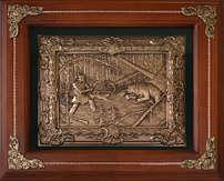 Деревянная ключница настенная «Охота осечка»
