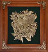 Деревянная ключница настенная «Глухарь с ружьем»