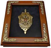 Деревянная ключница «Эмблема ФСБ» настенная