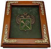 Деревянная ключница «Эмблема Таможни» настенная