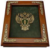 Деревянная ключница «Эмблема Прокуратуры РФ» настенная
