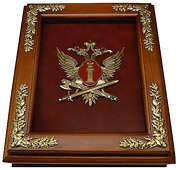 Деревянная ключница «Эмблема Федеральной службы исполнения наказаний РФ» (ФСИН России) настенная