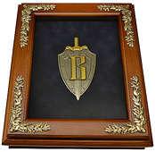 Деревянная ключница «Эмблема Вымпел» настенная