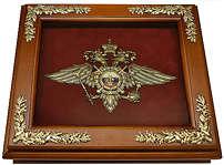 Деревянная ключница «Эмблема Министерства внутренних дел РФ» (МВД России) настенная
