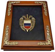 Деревянная ключница «Эмблема Федеральной службы охраны РФ» (ФСО России) настенная