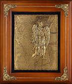 Деревянная ключница настенная «Дева»