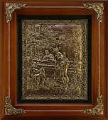 Деревянная ключница настенная «Охотник с собакой»