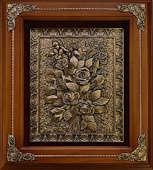 Деревянная ключница «Розы»