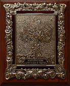 Деревянная ключница настенная «Денежное дерево» малая