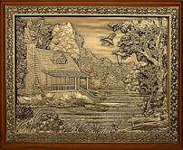 Деревянная ключница «Домик охотника» малая