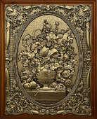 Деревянная ключница настенная «Цветы в вазе» малая