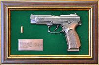 Панно с пистолетом «Ярыгин'в подарочной коробке