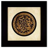 Картина Деревянный дракон и феникс