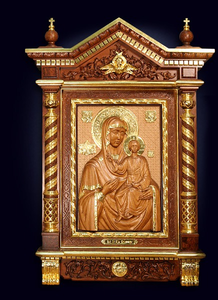 Резная икона Пресвятой Богородицы «Смоленская»