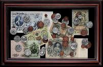 Панно Купюры и монеты Российской Империи